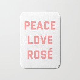 Peace Love Rosé Quote Bath Mat