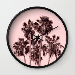 Palms on Blush Wall Clock