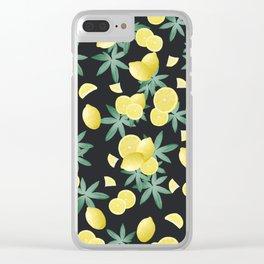 Lemon Twist Vibes #5 #tropical #fruit #decor #art #society6 Clear iPhone Case
