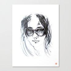Sunglasses Girl Canvas Print