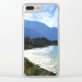 Peace In The Valley - Landscape Art Clear iPhone Case
