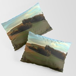 Last Moments of Sunset Glow, Sonoma County Hills Pillow Sham