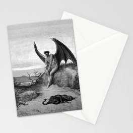 Lucifer, the fallen angel - Gustave Dore Stationery Cards