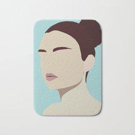 Amelia - modern minimal portrait Bath Mat
