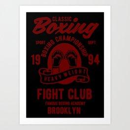 clasic boxing Art Print