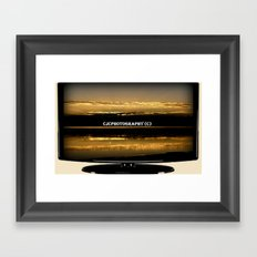 My work on TV Framed Art Print