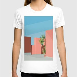 Coral space T-shirt