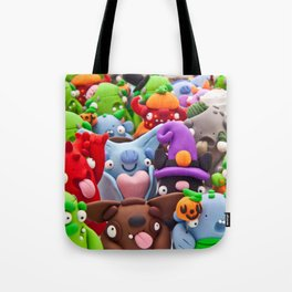 Creepy Collage Tote Bag