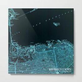 18-San Francisco North map, California 1947 Metal Print