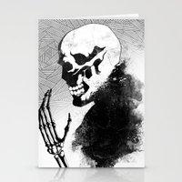 skeleton Stationery Cards featuring Skeleton by Jaaaiiro