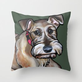 Maggie the irish terrier Throw Pillow