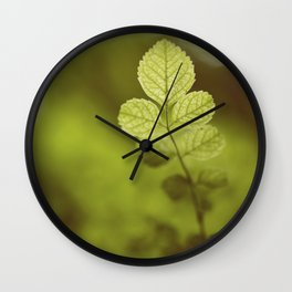 Into the green Wall Clock