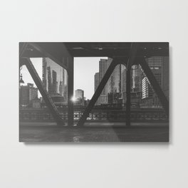 Downtown Sunset - Chicago Photography Metal Print