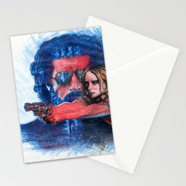 'Rush' film poster - Drawing in colour pencil Stationery Cards