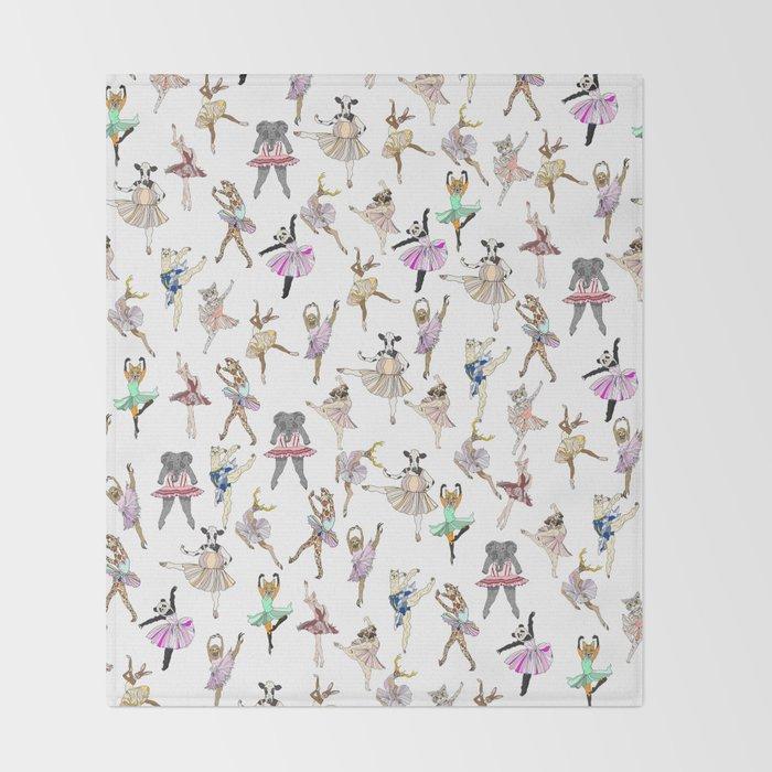 Animal Square Dance Throw Blanket