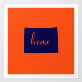 Colorado is Home - Go Broncos Art Print