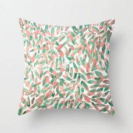 Watercolour Stromanthe Throw Pillow