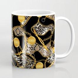 Chains-Belt and Animal Skin Coffee Mug