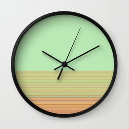 Re-Created  Color Field and Stripes 3 by Robert S. Lee Wall Clock