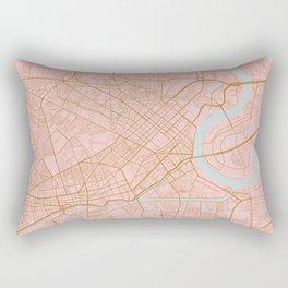 Ho Chi Minh map, Vietnam Rectangular Pillow