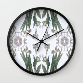 Forget Me Nots Study Dos Wall Clock