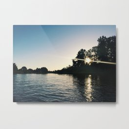 A Summer Evening on the River Metal Print