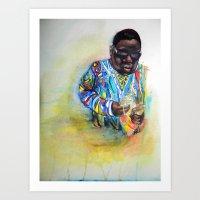 biggie smalls Art Prints featuring Biggie Smalls  by Caitlyn Carter