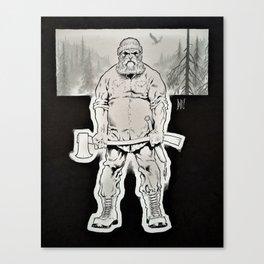 The Lumberjack B&W Canvas Print