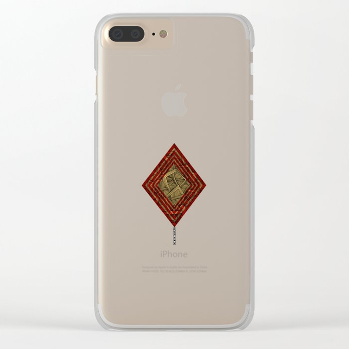 - lines of diamonds - Clear iPhone Case