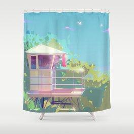 Hanauma Bay, Oahu Lifeguard Tower Shower Curtain