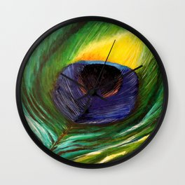 Pavo Peacock Wall Clock