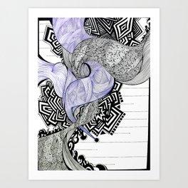 Blank Blue Art Print