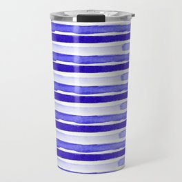 Ultra Violet Watercolour Stripes Travel Mug