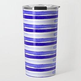 Ultra Violet Watercolour Stripes Travel Mug