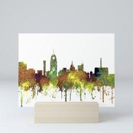 Lansing, Michigan Skyline - Safari Buff Mini Art Print