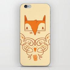 Ornate Fox iPhone & iPod Skin