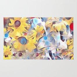 Sun flower fields (2016) Rug