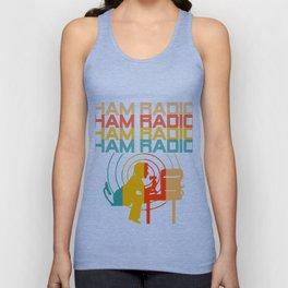 Retro Ham Radio T-Shirt. Best Costume. Unisex Tank Top