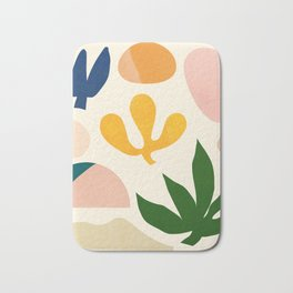 Abstraction_Floral_001 Bath Mat