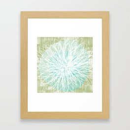 Doodle Flowers in Mint by Friztin Framed Art Print