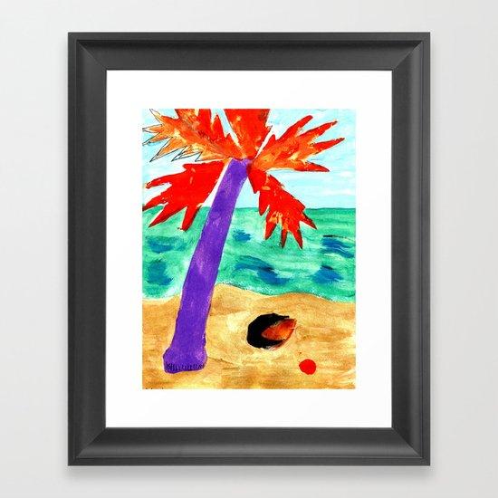Black Coconut Framed Art Print