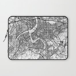 Taipei Map White Laptop Sleeve