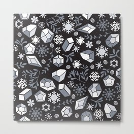 Winter diamonds Metal Print