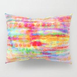 Light Rainbow Tie Dye Stripes Pillow Sham