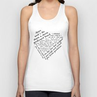 destiel Tank Tops featuring Quotes of the Heart - Destiel (Black) by fairy911911
