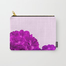 Purple Peonies On A Pink Background #decor #society6 #buyart Carry-All Pouch