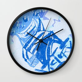 Blue victory Wall Clock
