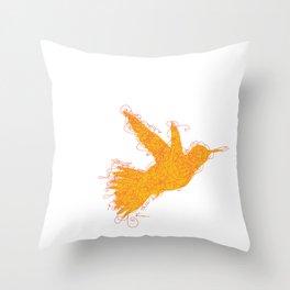 Bird Fly No. 1  (orange) Throw Pillow