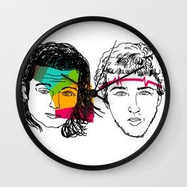 Daft Punk portrait Wall Clock
