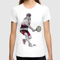tennis T-shirts featuring Tennis Agassi by Paul Nelson-Esch Art